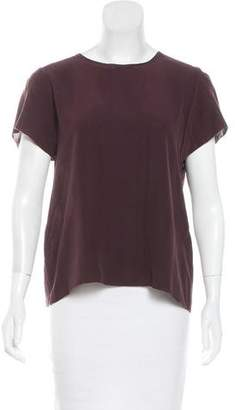 Ulla Johnson Silk Short Sleeve Top