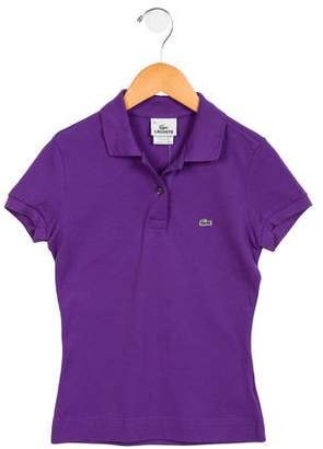 Lacoste Girls' Short Sleeve Polo Top w/ Tags