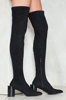 Nasty Gal The Edge of Glory Thigh-High Boot