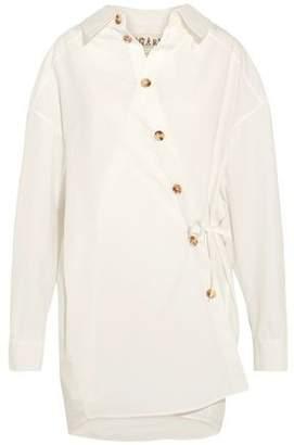 Awake Oversized Button-Detailed Cotton-Blend Poplin Shirt