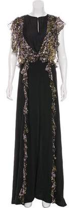 Just Cavalli Silk Maxi Dress w/ Tags