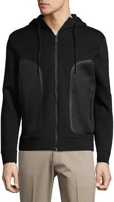 Antony Morato Men's Fleece Hooded Jacket - Black, Size xx-large