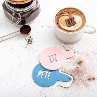 Funky Laser Comic Style Coffee Coco Stencil Duster Set Of Two