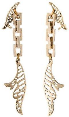 Lulu Frost Wisteria Drop Earrings $95 thestylecure.com
