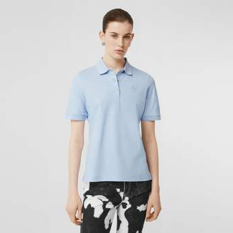Burberry Monogram Motif Cotton Pique Polo Shirt