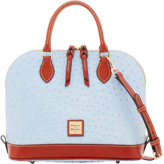 Dooney & Bourke Ostrich Zip Zip Satchel