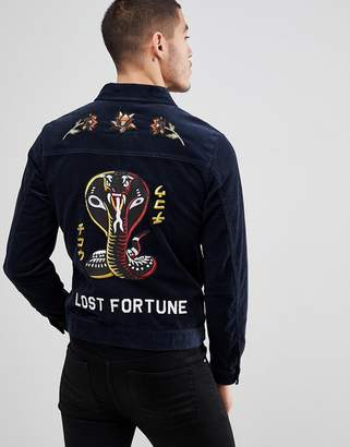 Jack and Jones Originals Cord Jacket With Embroidery