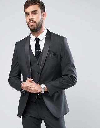 Selected Slim Tuxedo Jacket With Satin Shawl