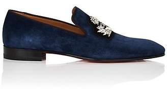 3f2e6718b567 Christian Louboutin Men s Dandelion Suede Venetian Loafers - Dk. Blue