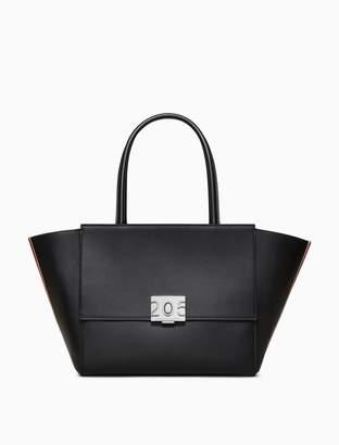 Calvin Klein bonnie top handle shopper in calf leather