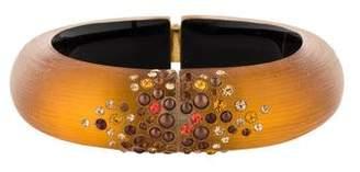 Alexis Bittar Lucite Crystal Studded Hinge Bracelet