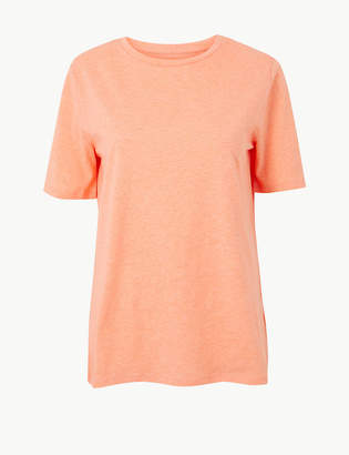 Marks and Spencer Pure Cotton Straight Fit T-Shirt