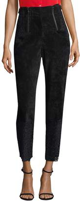 Marissa Webb Women's Velvet & Lace Crop Trousers