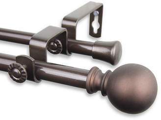 ROD DESYNE Rod Desyne Luna ? Adjustable Double Curtain Rod