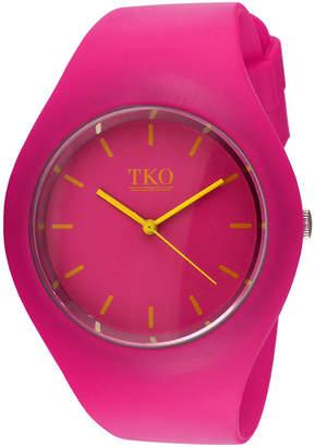 JCPenney TKO ORLOGI Candy II Pink Silicone Strap Sport Watch