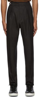 Ermenegildo Zegna Brown Wool Double Pleated Trousers