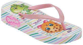 Girls 4-16 Shopkins Kooky Cookie & Apple Blossom Wedge Flip Flops $16 thestylecure.com