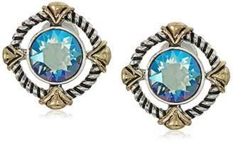 Swarovski Napier Women's Erenite Button Clip On Earrings