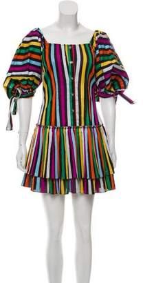 Caroline Constas Striped Mini Dress