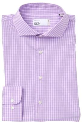 Nordstrom Rack Gingham Trim Fit Dress Shirt