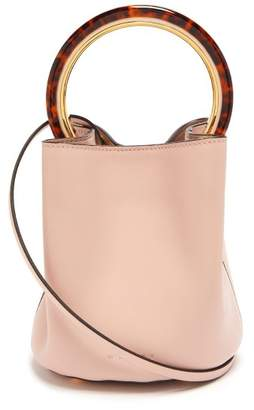 Marni Pannier Leather Bucket Bag - Womens - Light Pink