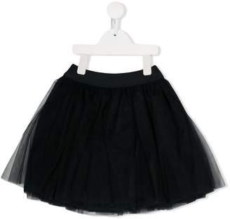 MonnaLisa tulle panel flared skirt