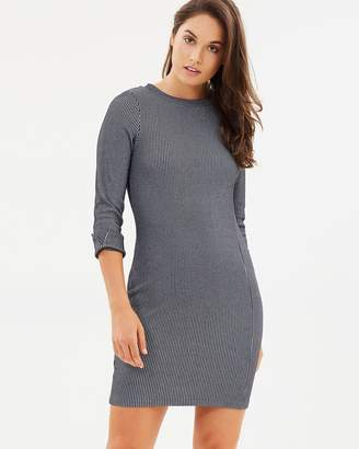 French Connection Sario Ribbed Jersey Dress