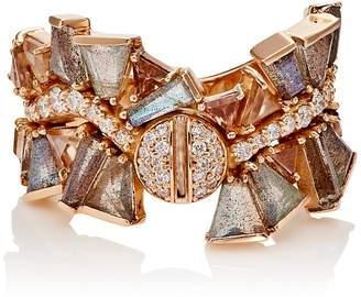 Nak Armstrong Women's Mixed-Gemstone Rose Gold Ring