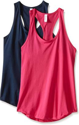 Clementine Apparel Women's Petite Plus Ideal Racerback Tank Tops (Pack of 2)