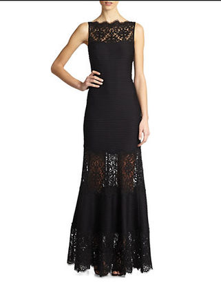 Tadashi Shoji Embroidered Illusion Mermaid Gown $439 thestylecure.com