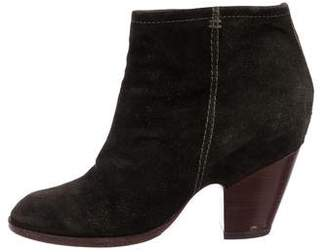 Belle by Sigerson Morrison Round-Toe Suede Ankle Boots