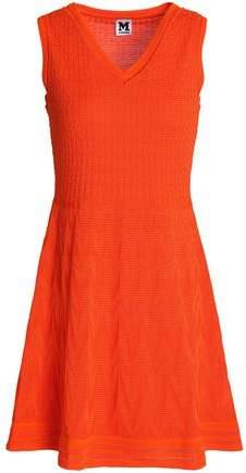 Crochet-Knit Cotton-Blend Mini Dress