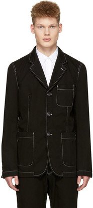 Comme des Garçons Shirt Black Workstitch Blazer $795 thestylecure.com