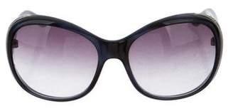 Bvlgari Crystal-Embellished Oversize Sunglasses