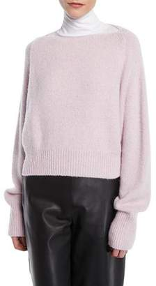 Vince Cropped Boat-Neck Cashmere Sweater