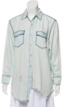 One Teaspoon Liberty Distressed Button-Up Top w/ Tags