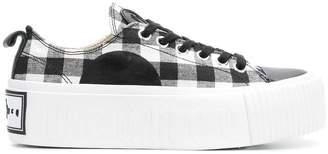 McQ gingham print sneakers