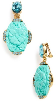 Women's Oscar De La Renta Crystal Drop Earrings $335 thestylecure.com