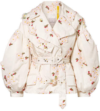 Simone Rocha Moncler Genius - 4 Embellished Embroidered Shell Down Jacket - Ivory