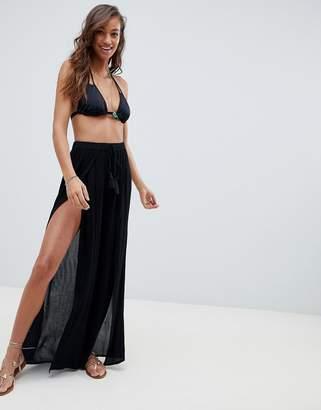 Asos Design DESIGN split front beach pant