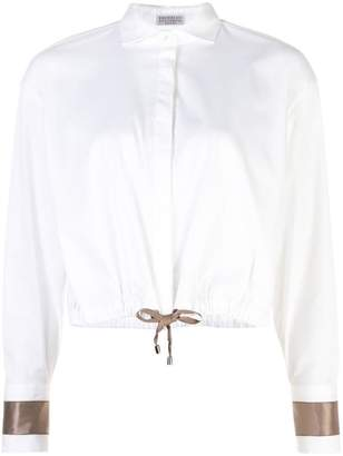 Brunello Cucinelli (ブルネロ クチネリ) - Brunello Cucinelli drawstring hem shirt