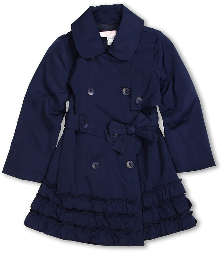 Biscotti Trench Coat (Toddler) (Navy) - Apparel