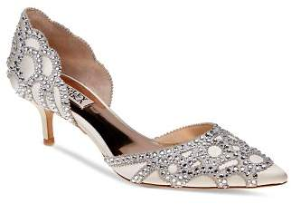 Badgley Mischka Ginny Embellished d'Orsay Pointed Toe Pumps