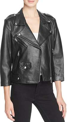Rebecca Minkoff Wes Leather Moto Jacket $498 thestylecure.com