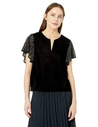 Velvet by Graham & Spencer Women's Tibby Sequin Velvet top