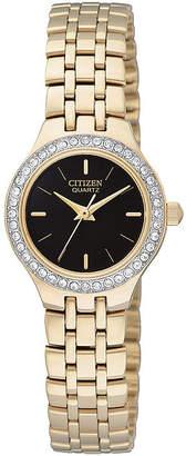 JCPenney Citizen Quartz Citizen Womens Crystal-Accent Bracelet Watch EJ6042-56E
