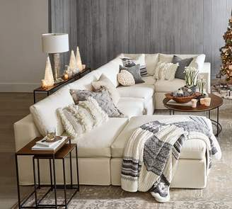 Pottery Barn Build Your Own PB Air Square Arm Slipcovered Sectional