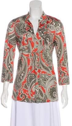 Etro Printed Long Sleeve Blouse