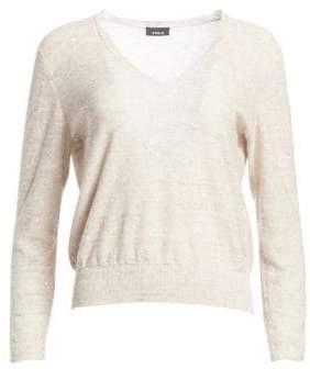 Akris Sequin V-Neck Sweater