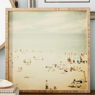 Beachcrest Home Vintage Beach Framed Photographic Print Plaque